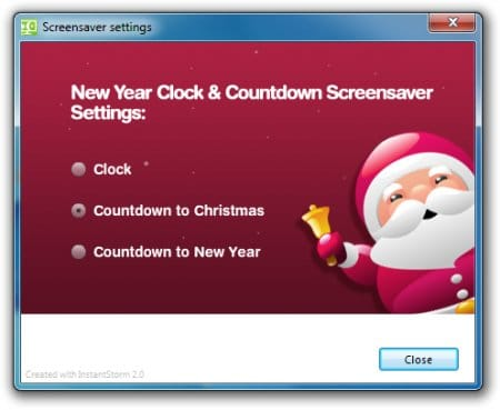 NewYear Clock & Countdown Screensaver